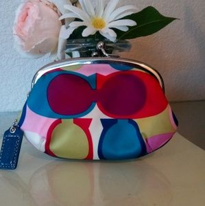 Coach Multi Color Coin Purse